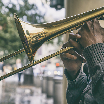 trumpet player in new orleans